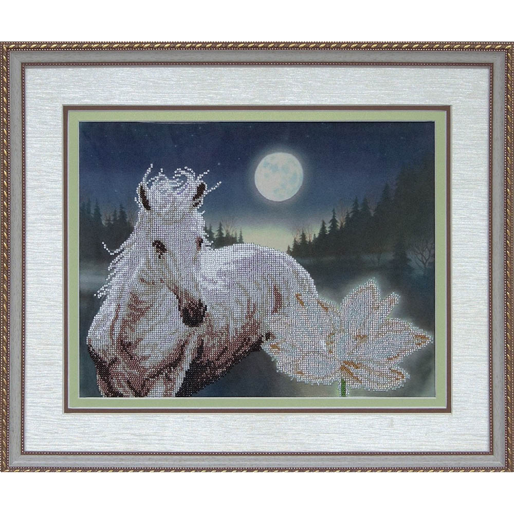 10709 Набор для вышивания бисером Краса и творчество 'Лунная соната' 29*37,3 см