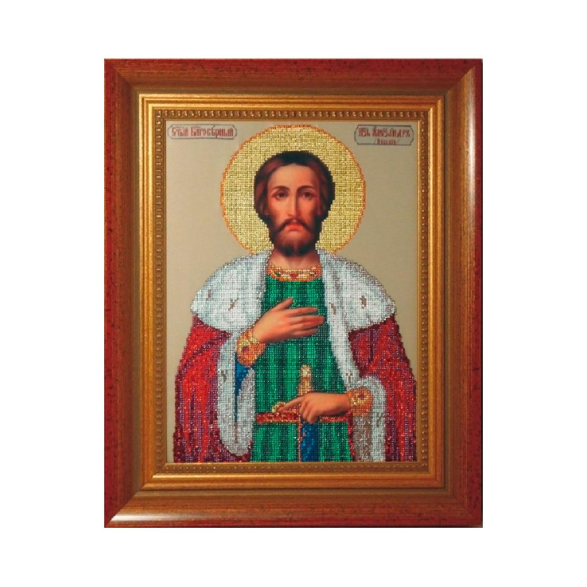 11209 Набор для вышивания бисером Краса и творчество 'Св. Александр' 33,7*24,8 см