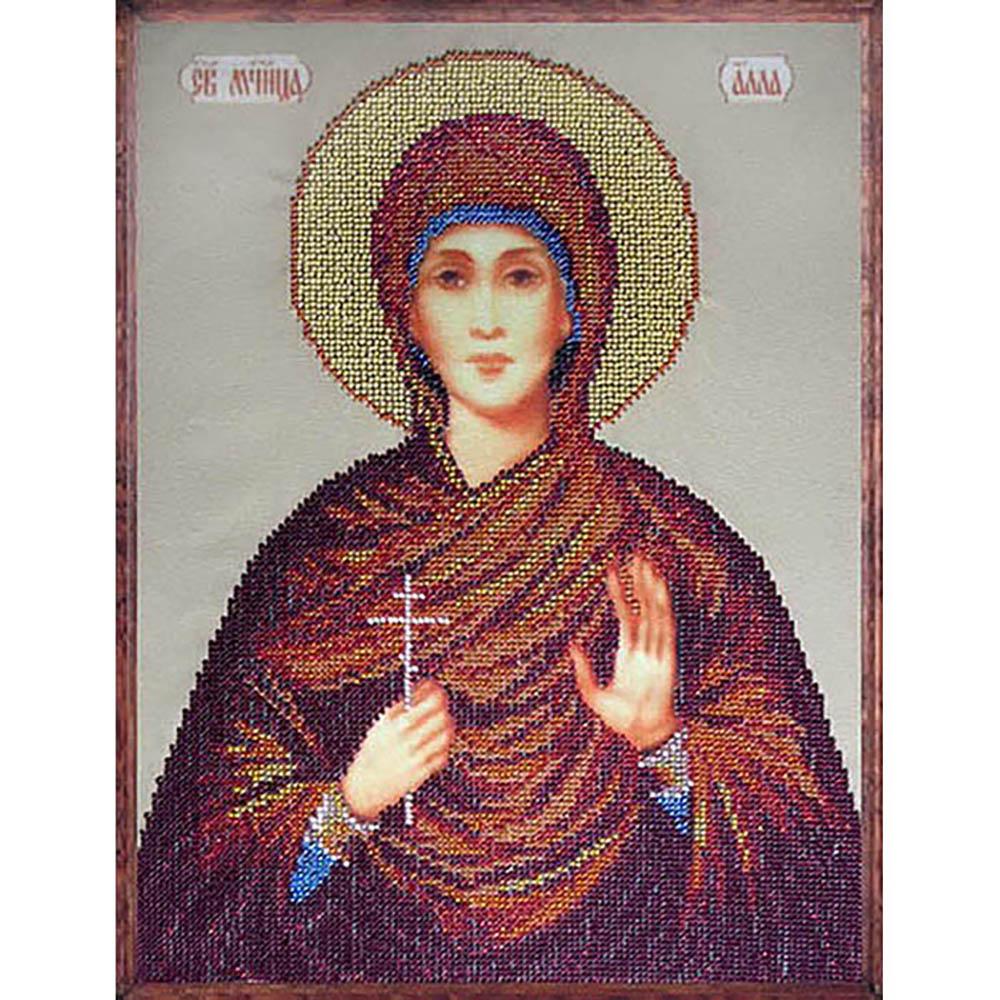 11109 Набор для вышивания бисером Краса и творчество 'Св. Алла' 33*24 см