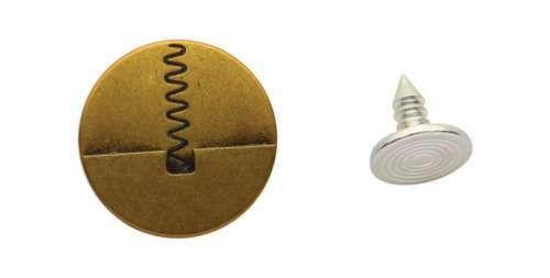 Пуговицы джинсовые QCA-0409 17мм (гвоздь в комплекте)