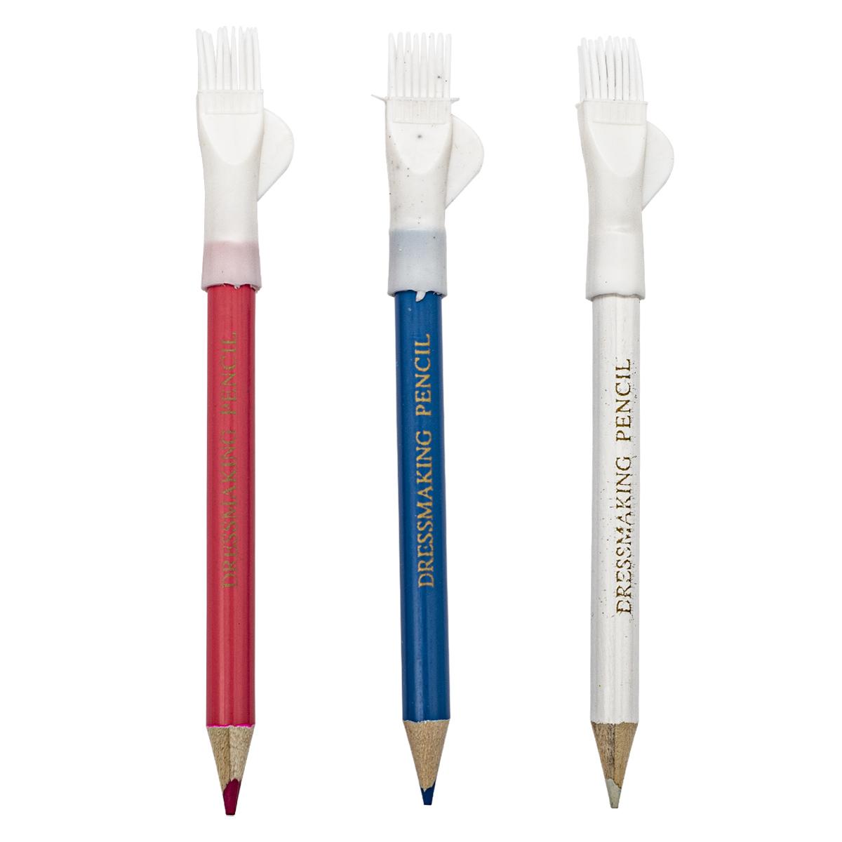 410103 Карандаши маркировочные разноцветные, с щеточкой, упак./3 шт., Hobby&Pro