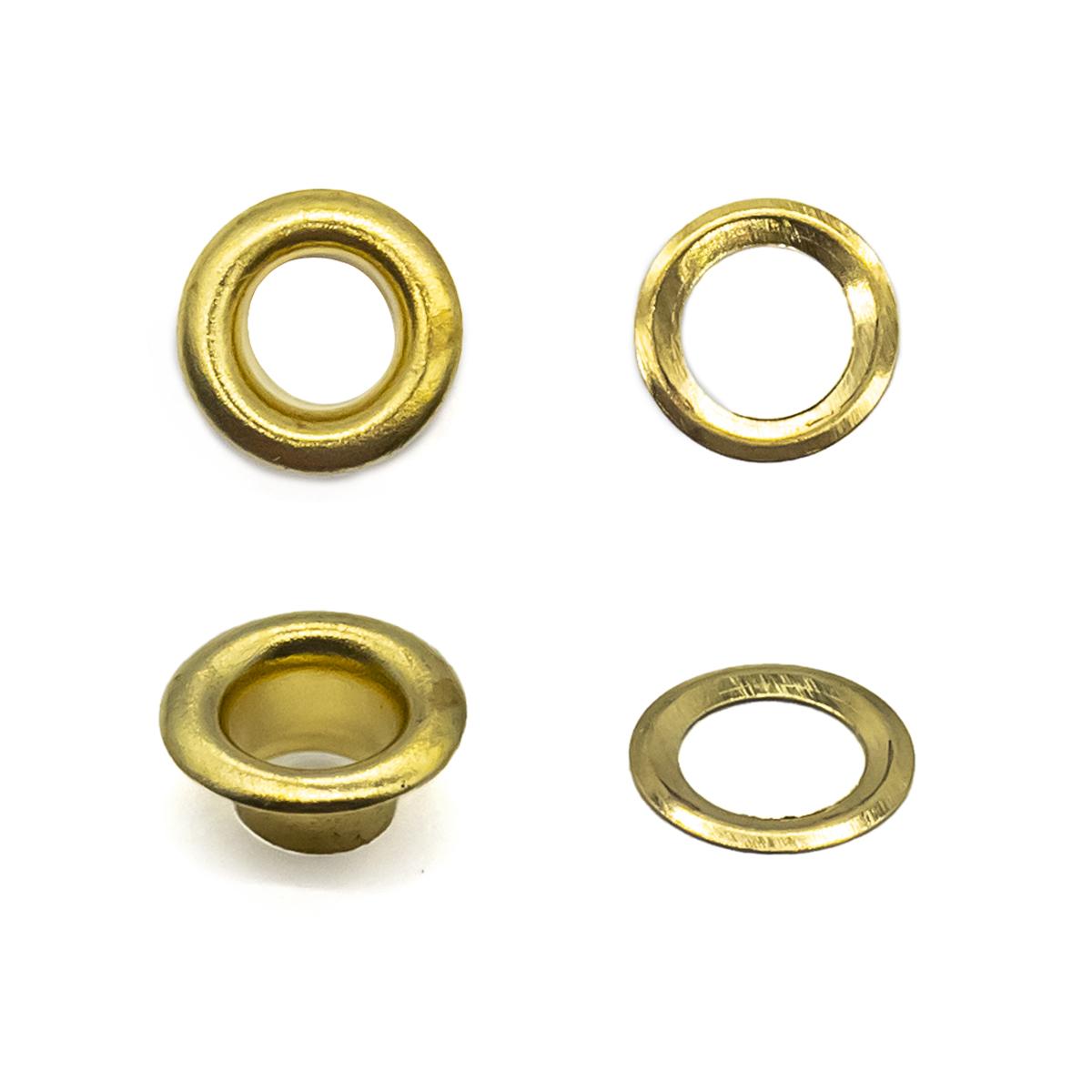 530412 Люверсы с инструментом для установки, золото, d 4 мм, упак./40 компл., Hobby&Pro