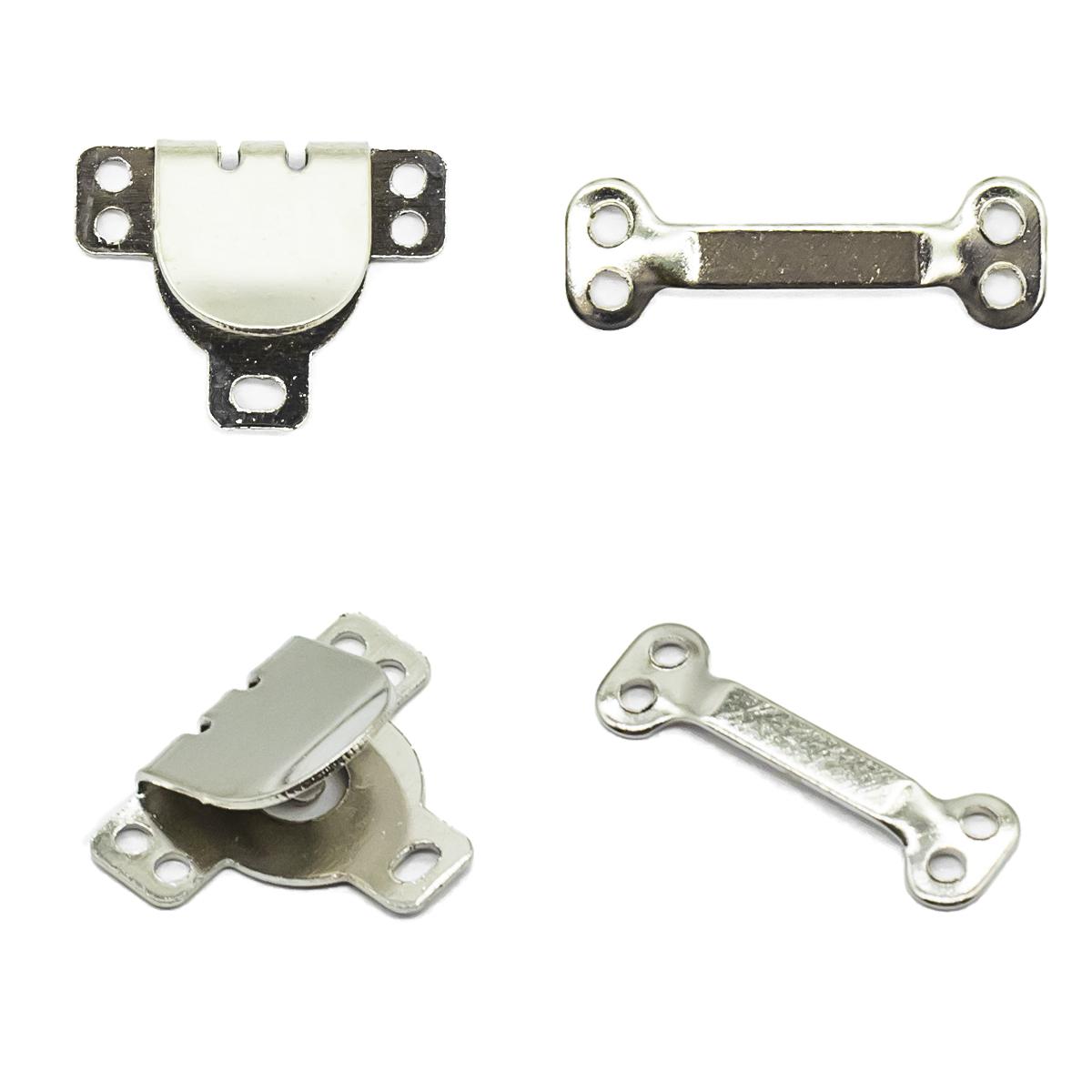540311 Крючки пришивные, никель, упак./3 компл., Hobby&Pro