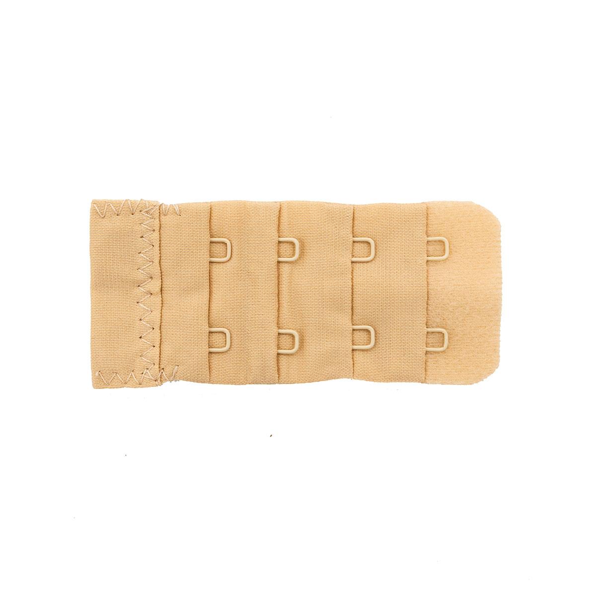 852003 Застежка для увеличения объема бюстгальтера, телесный, 2 крючка, Hobby&Pro