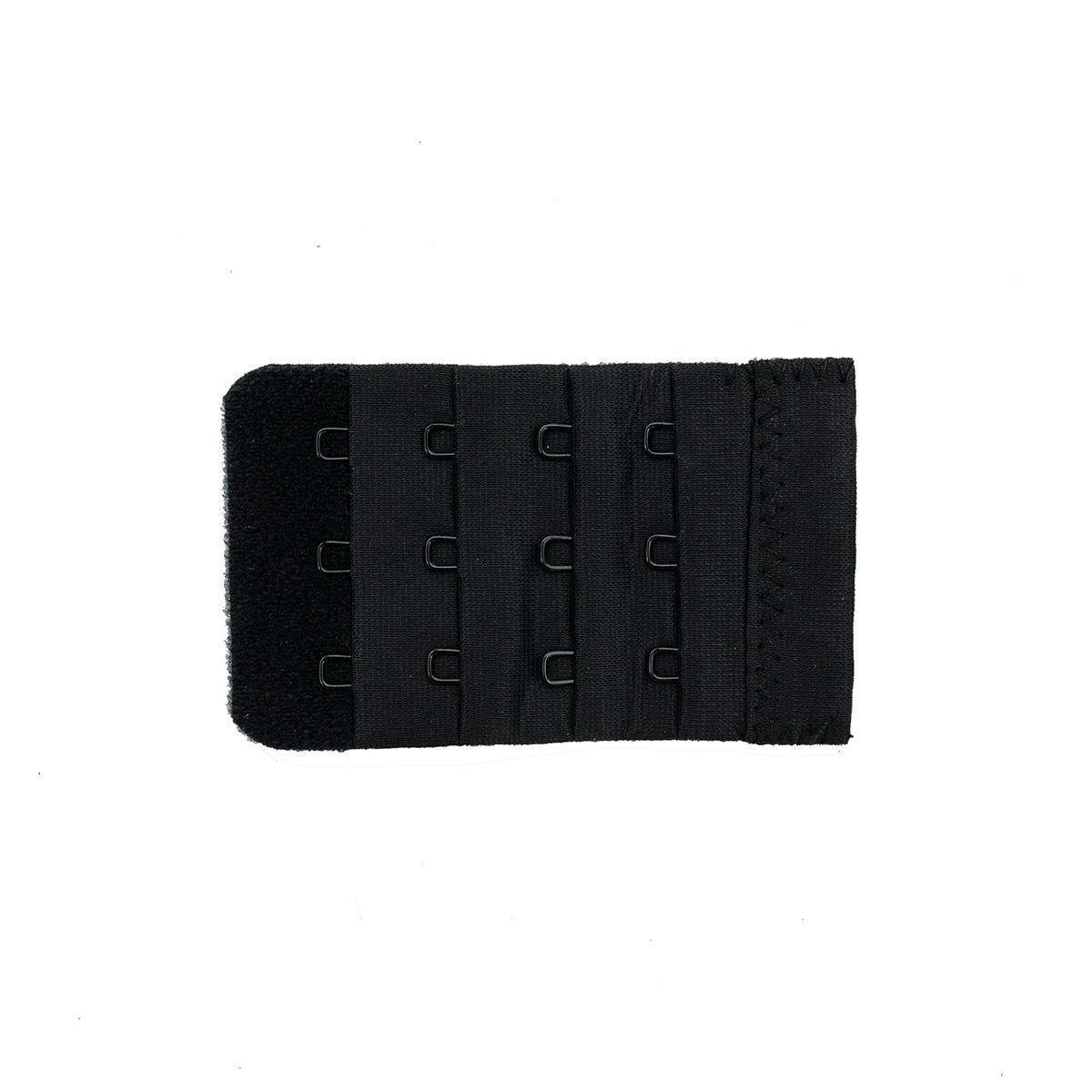 853001 Застежка для увеличения объема бюстгальтера, черный, 3 крючка, Hobby&Pro