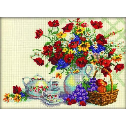М216 Набор для вышивания RTO 'Чаепитие в саду', 35х26 см