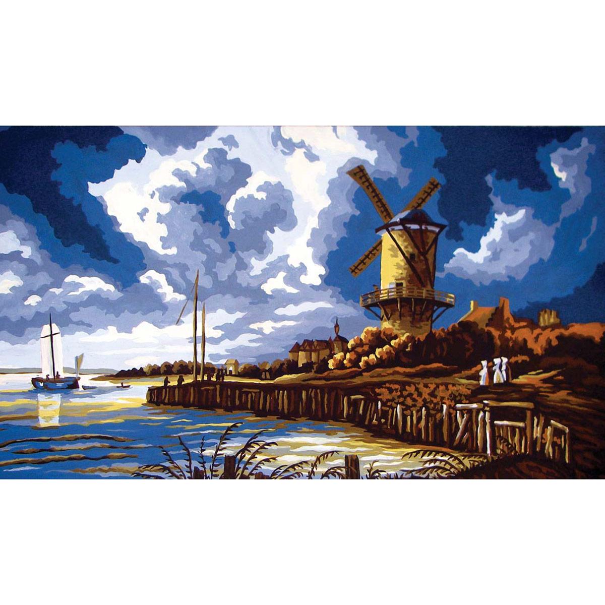 11568-CDA Канва с рисунком Collection D`Art, 40x60 см