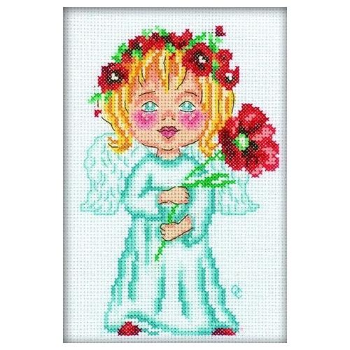 С128 Набор для вышивания RTO 'Цветок на счастье', 12х18 см