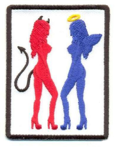 AD1029 Термоаппликация 'Ангел и демон', 7,5*5,5 см, Hobby&Pro