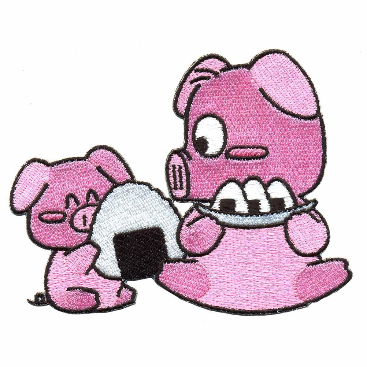 AD1055 Термоаппликация 'Две розовые свинки', 8*10 см, Hobby&Pro