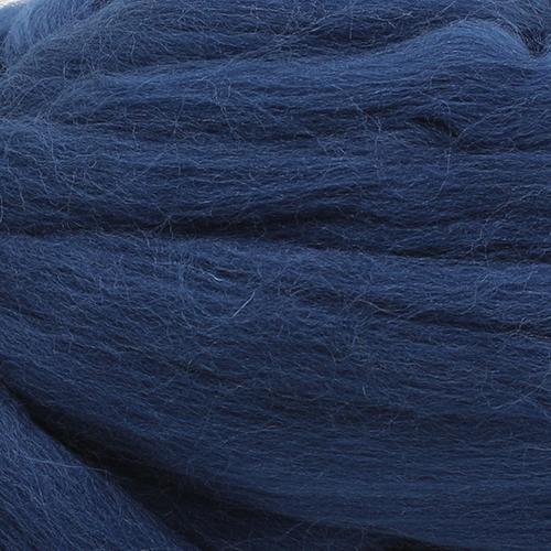 Шерсть для валяния тонкая, 50 гр., 'Астра' (0107 т.синий) фото