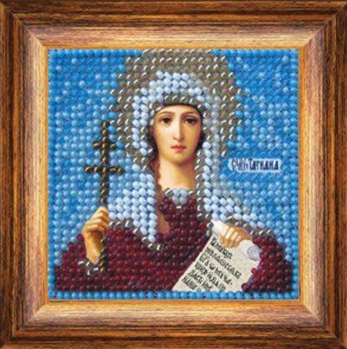 017ПМИ Набор для вышивания бисером 'Вышивальная мозаика' Икона 'Св. Мученица Татиана', 6,5*6,5 см