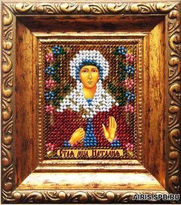 025ПИ Набор для вышивания бисером 'Вышивальная мозаика' Икона 'Св. Мученица Наталия' 6,5*6,5 см