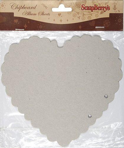 Листы из чипборда для альбома, 15*15 см 2 шт., SCB