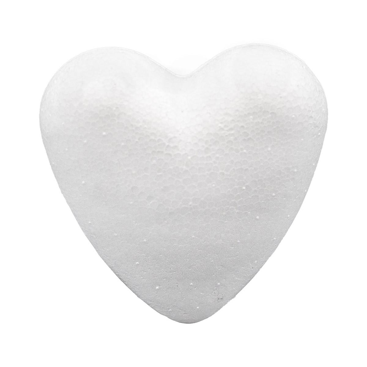Заготовка для декорирования из пенопласта 'Сердце полное ', 7см
