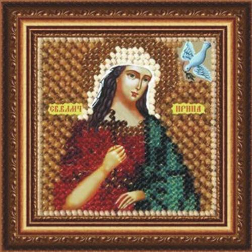 039ПМИ Набор для вышивания бисером 'Вышивальная мозаика' Икона 'Св. Великомученица Ирина', 6,5*6,5 см