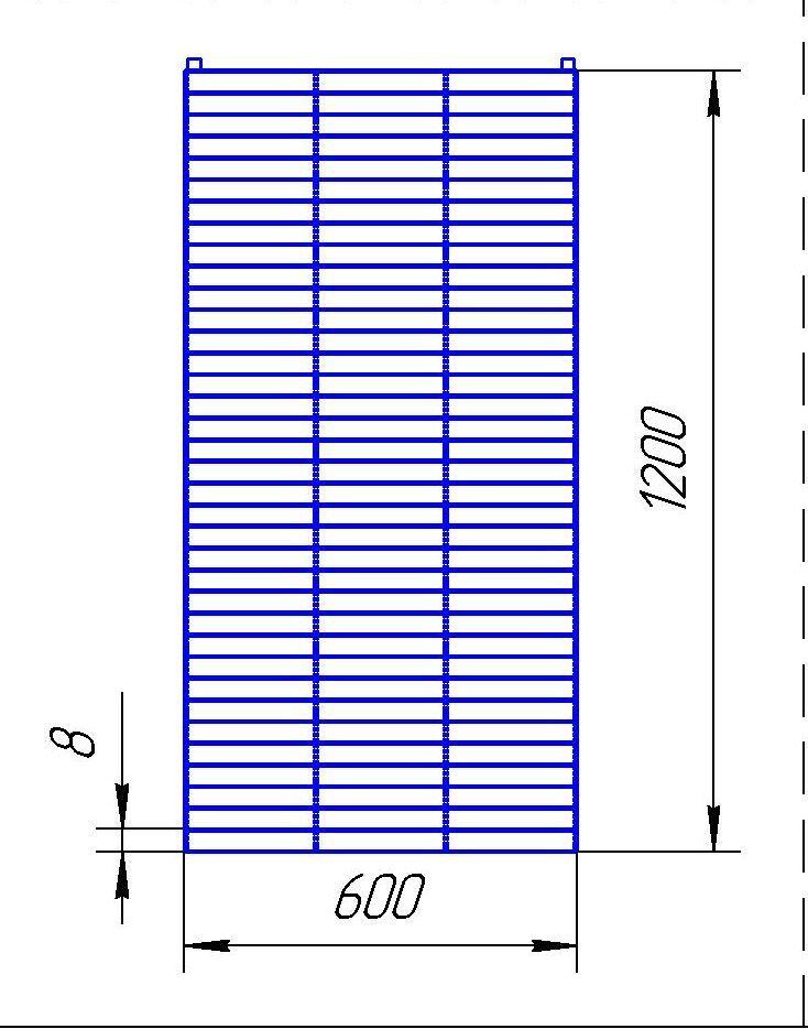 Сетка для крючков, 600х1200, 'Астра'