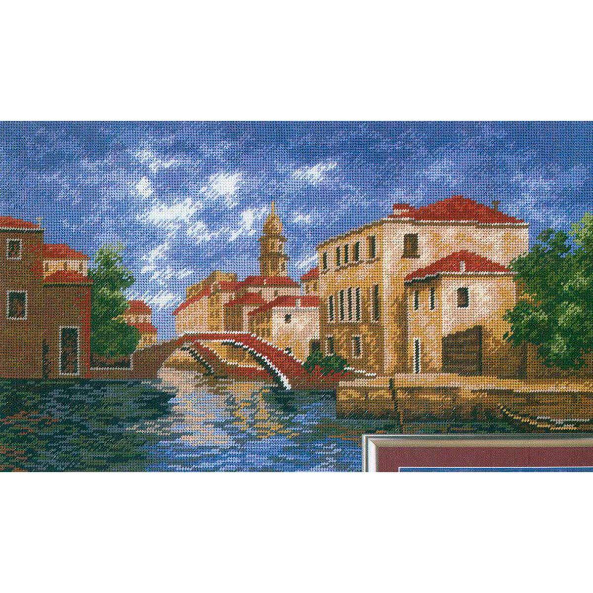 638 Набор для вышивания Hobby&Pro 'Город на воде', 31*18 см