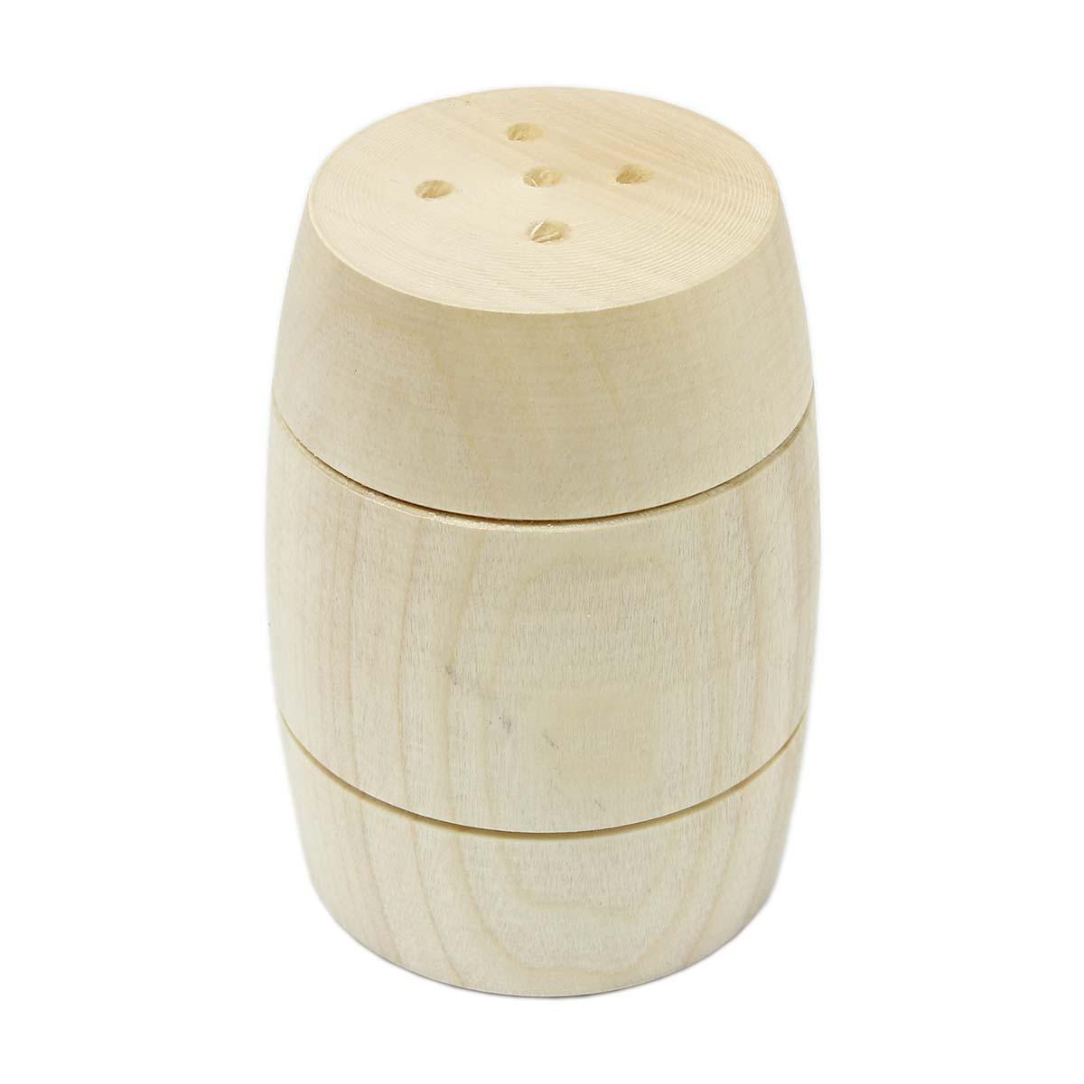 Деревянная заготовка солонка 'Бочонок', 6 см