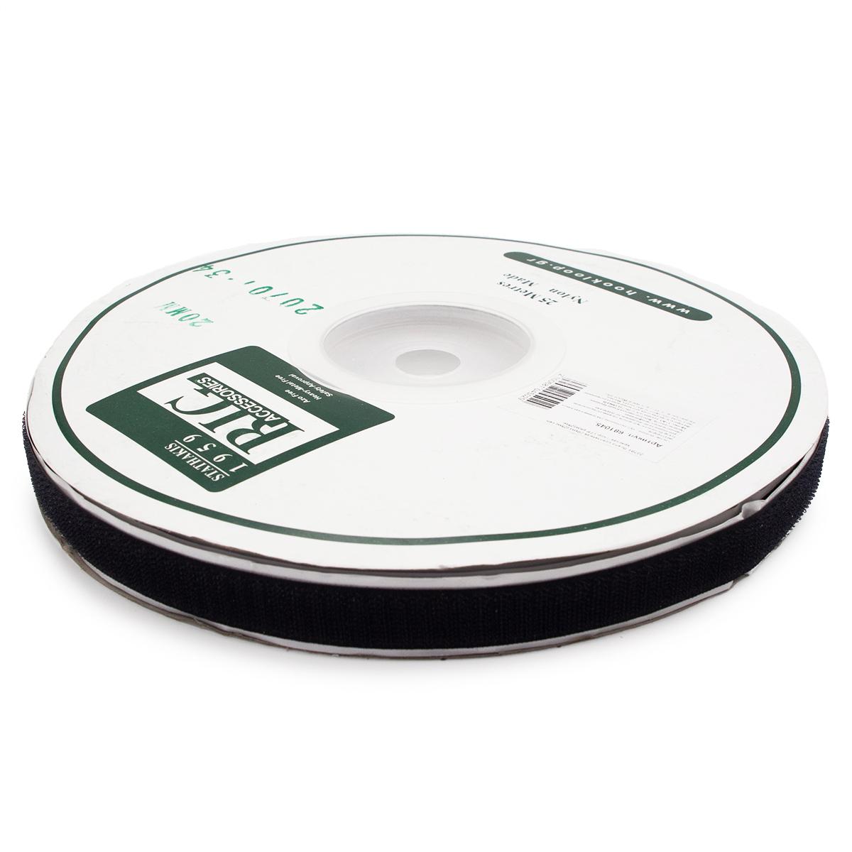 20701 Лента контактная 20мм (25м) скл. 'крючок' (чер.)