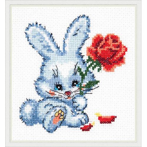 18-48 Набор для вышивания 'Чудесная игла' 'Зайчишка', 11*12 см