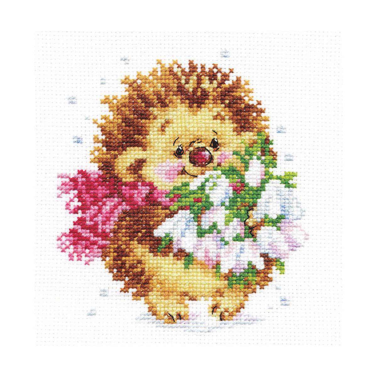 0-89 Набор для вышивания АЛИСА 'Весенний ёжик' 11*13см