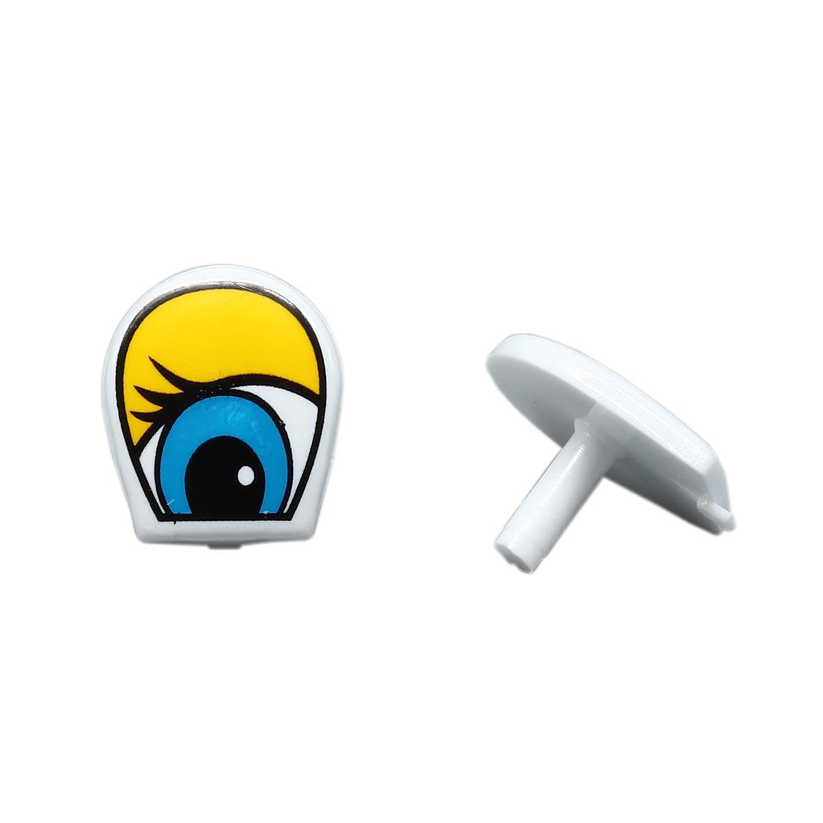 г33-3цв Глаза для игрушек 1,5*1,8см пластик.