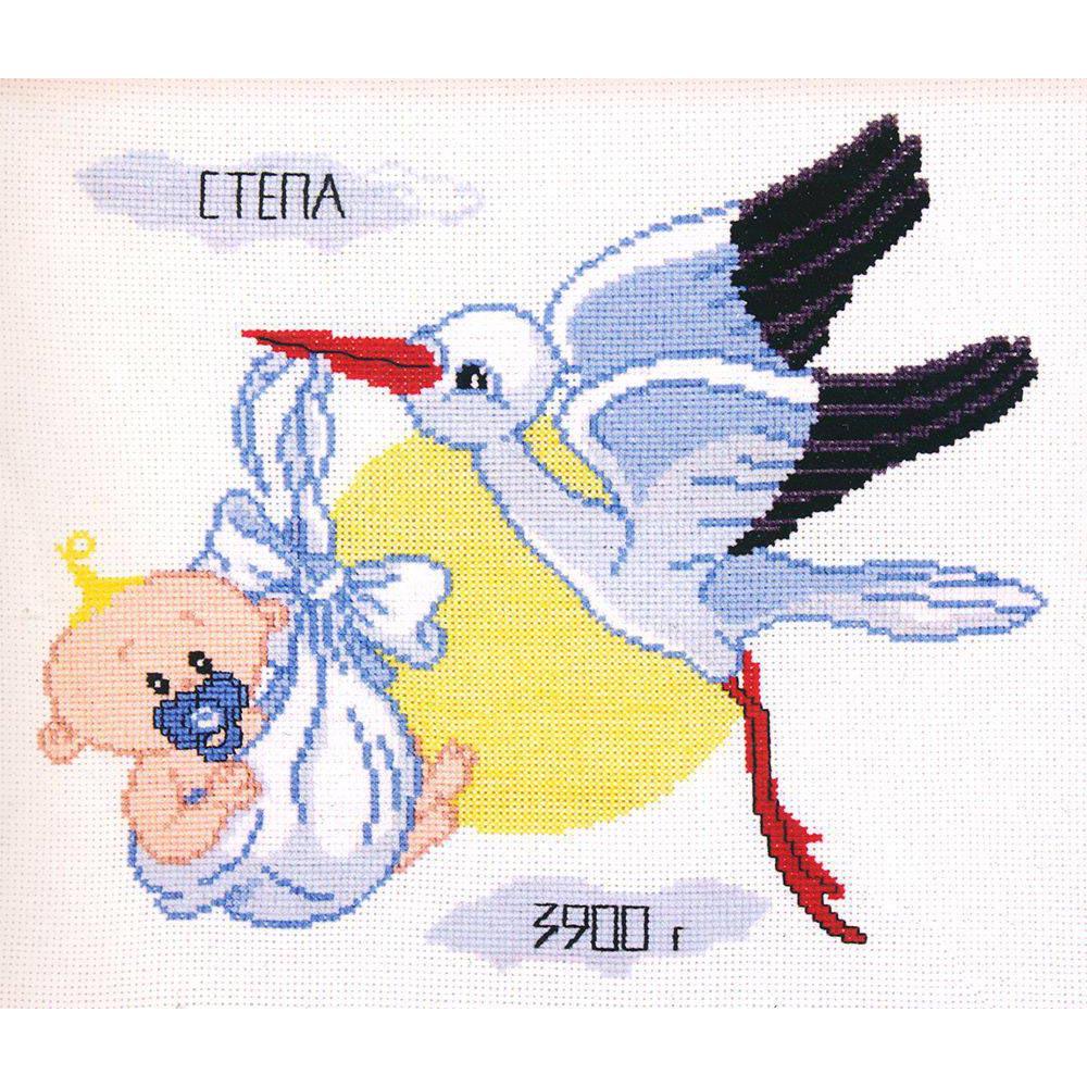 368 Набор для вышивания 'Овен' 'Метрика для мальчика', 27x23 см