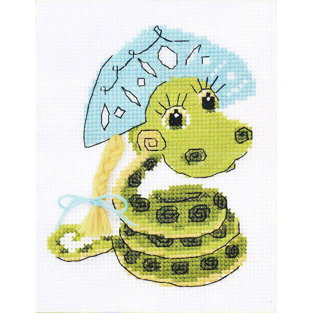 НВ-125 Набор для вышивания Riolis 'Новогодняя змейка', 13*16 см