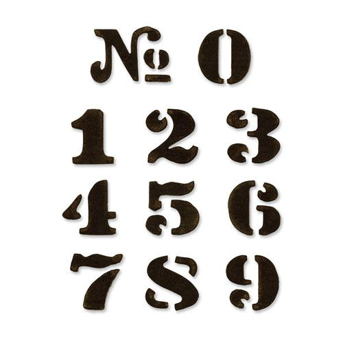 657841 Форма для вырубки на магнитной основе Цифры Movers & Shapers Die