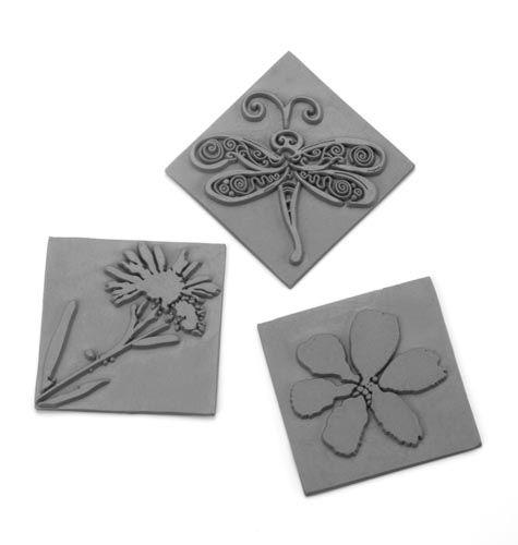 61600433 Вкладыш в квадратную форму для мыловарения,цветок,3шт. Glorex