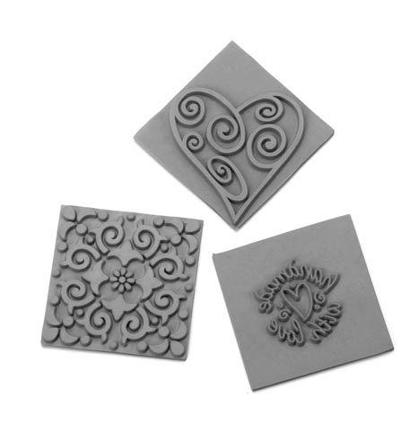 61600434 Вкладыш в квадратную форму для мыловарения,орнамент,3шт. Glorex