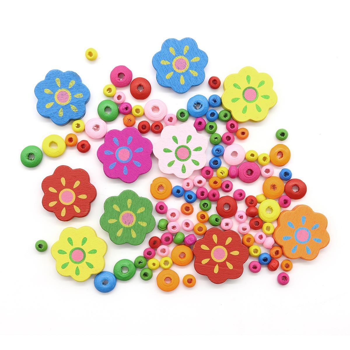 61618004 Набор деревянных бусин 'Цветок', 25 мм, Glorex