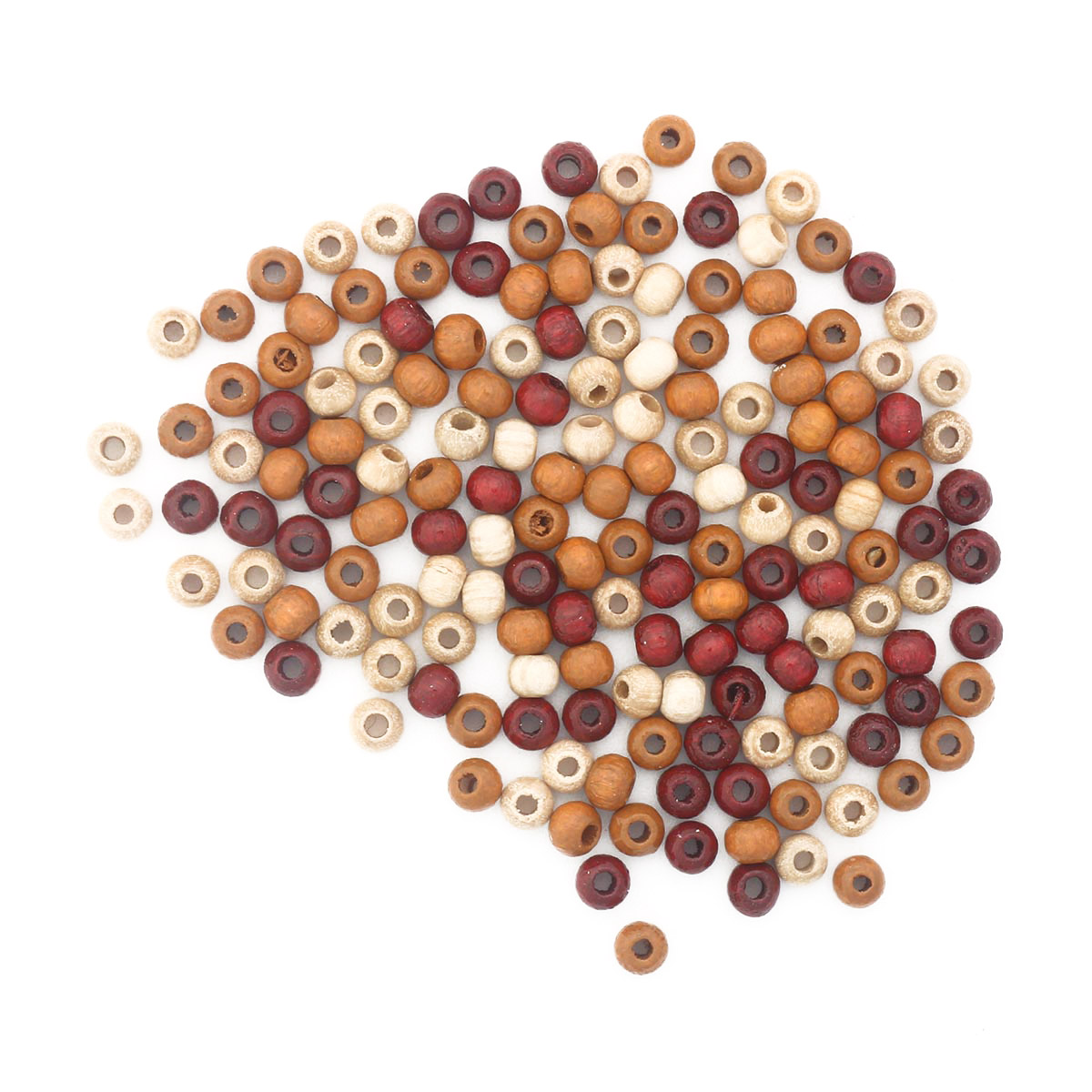 61651056 Бусины дерево, коричневый микс, 4 мм, упак./155 шт., Glorex