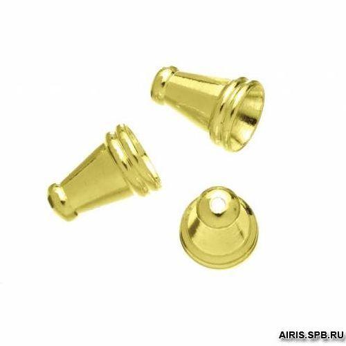 63709039 Концевик 6*8мм,золото,10шт. Glorex