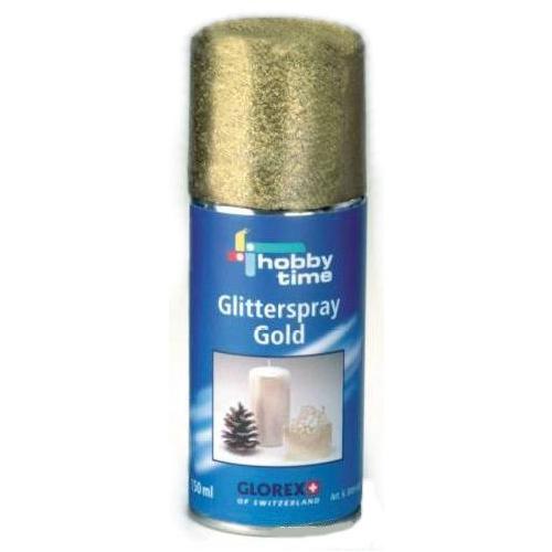 63009692 Спрей с блестками,золото,150мл. Glorex