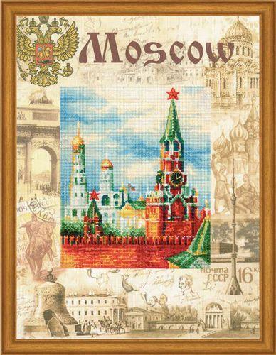 РТ-0021 Набор для вышивания Riolis 'Города мира. Москва', 30*40 см
