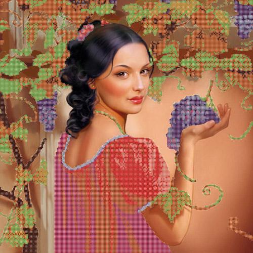75004 Канва с рисунком Gluriya 'Зелёный виноград' 30*30 см