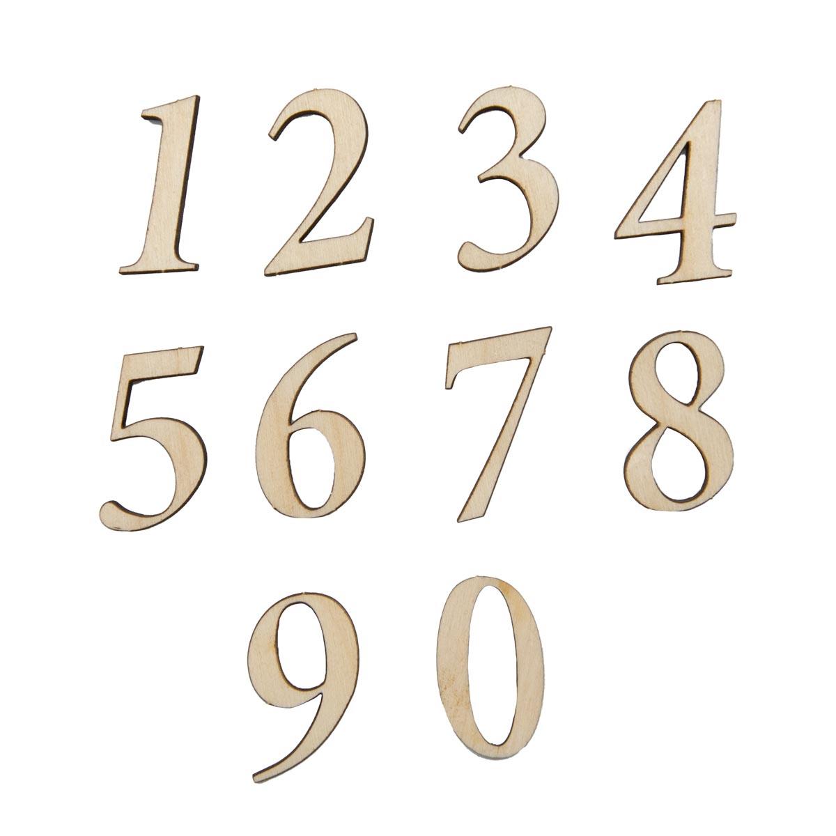 L-142 Деревянная заготовка 'Набор цифр №1, арабские', 3 см, 'Астра'