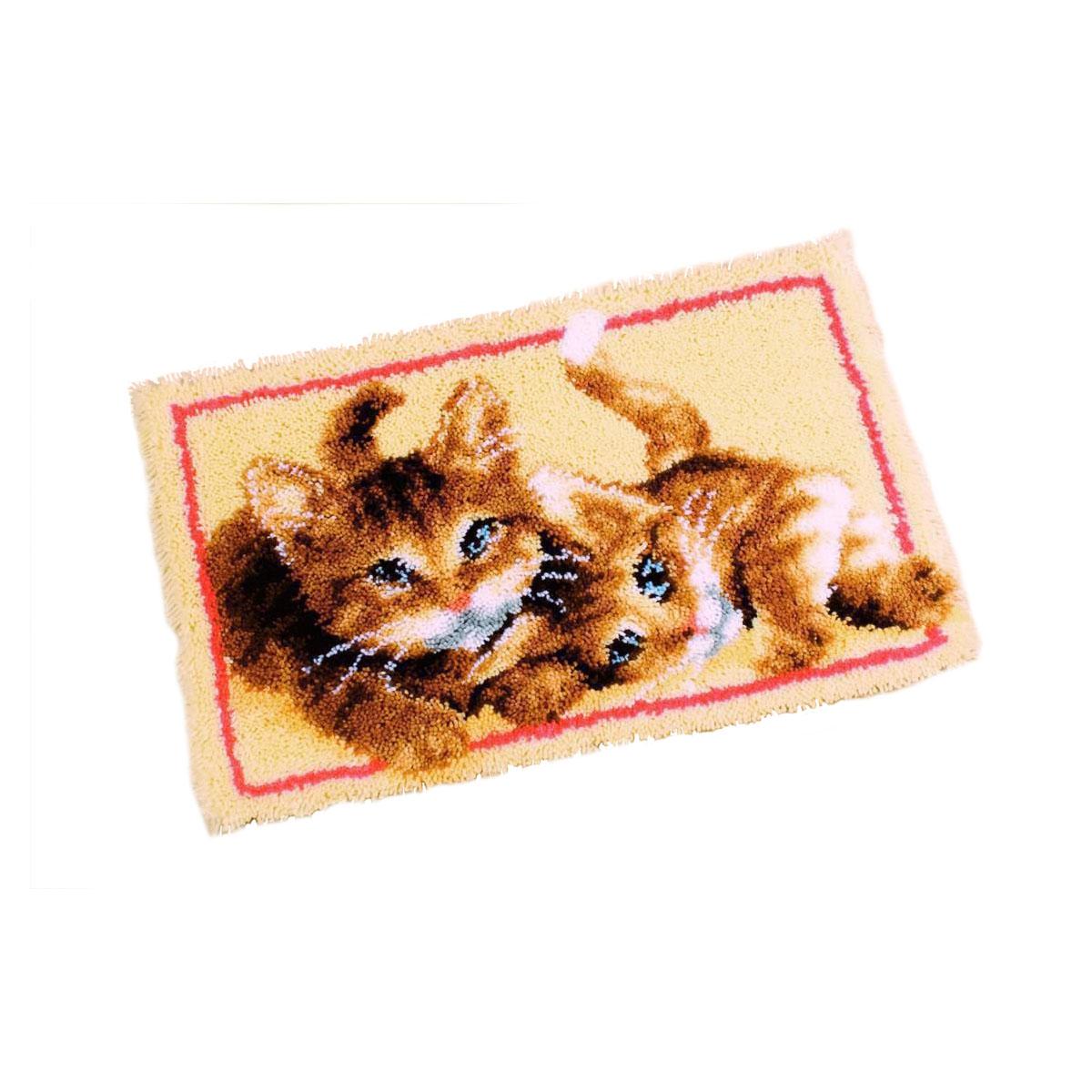 0145610-PN Коврик (ковровая техника) Vervaco 'Играющие котята' 70x45 см
