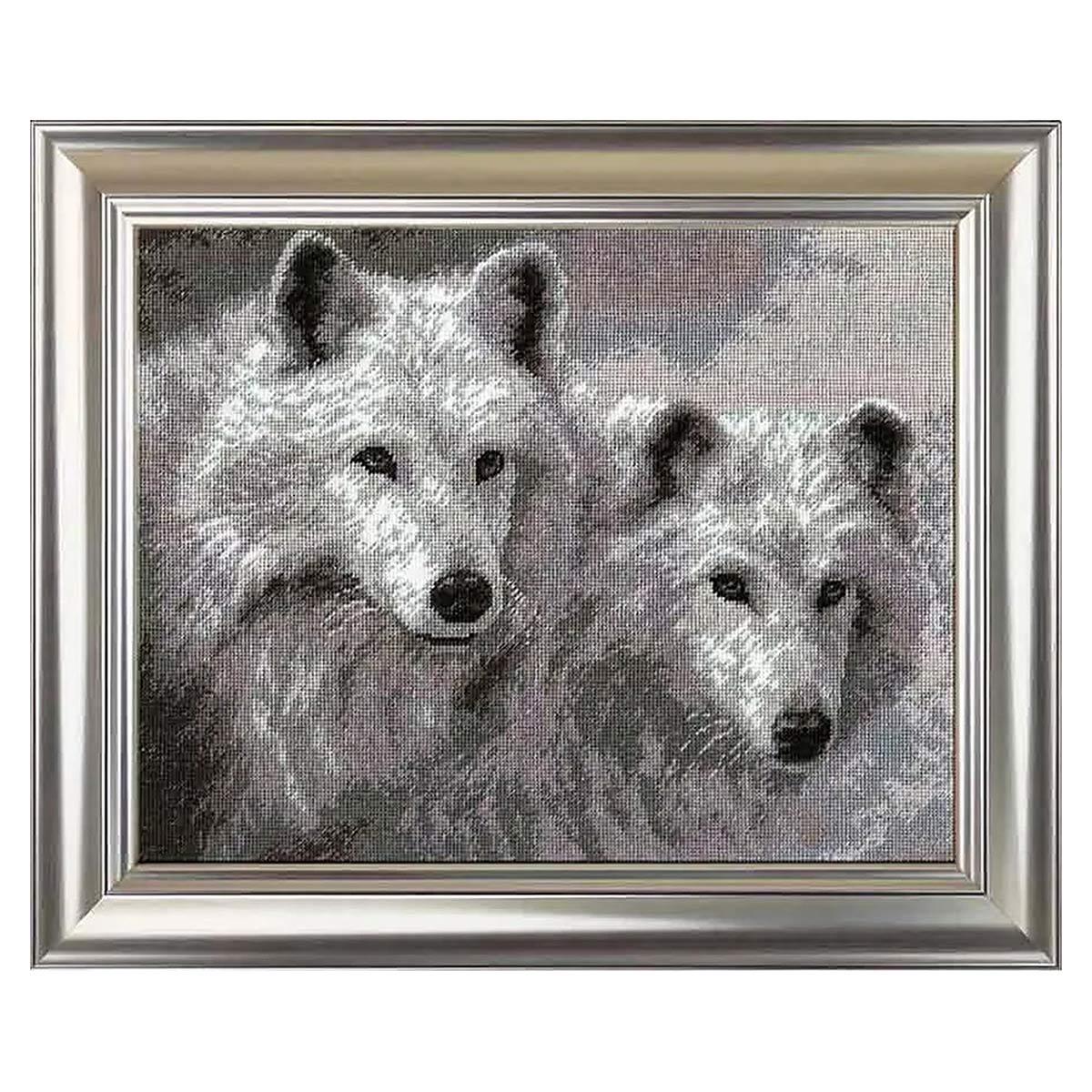 678 Набор для вышивания Hobby&Pro 'Белые волки', 29*23 см