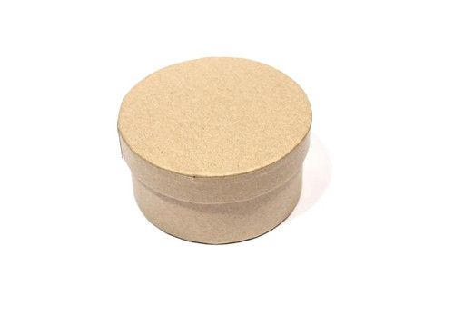 Заготовка коробки из папье-маше круглая 8*4см SCB 2765001