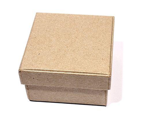 Заготовка коробки из папье-маше квадратная 7*7*4см SCB 2765101