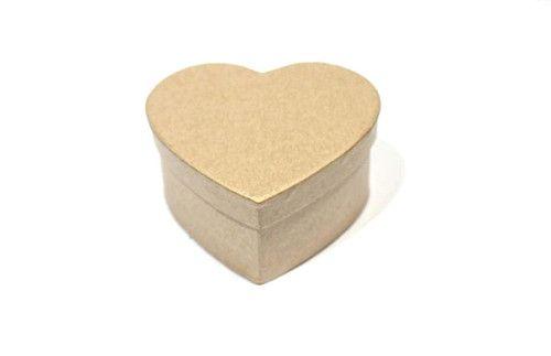 Заготовка коробки из папье-маше сердце 9*10*4,5см SCB 2765201