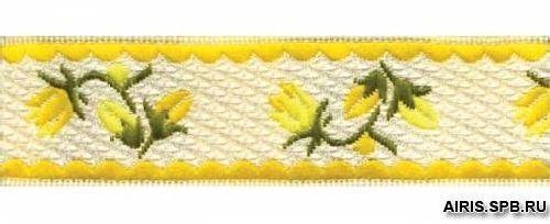 05-12001/20 Тесьма жаккард. желт 'подснежники'