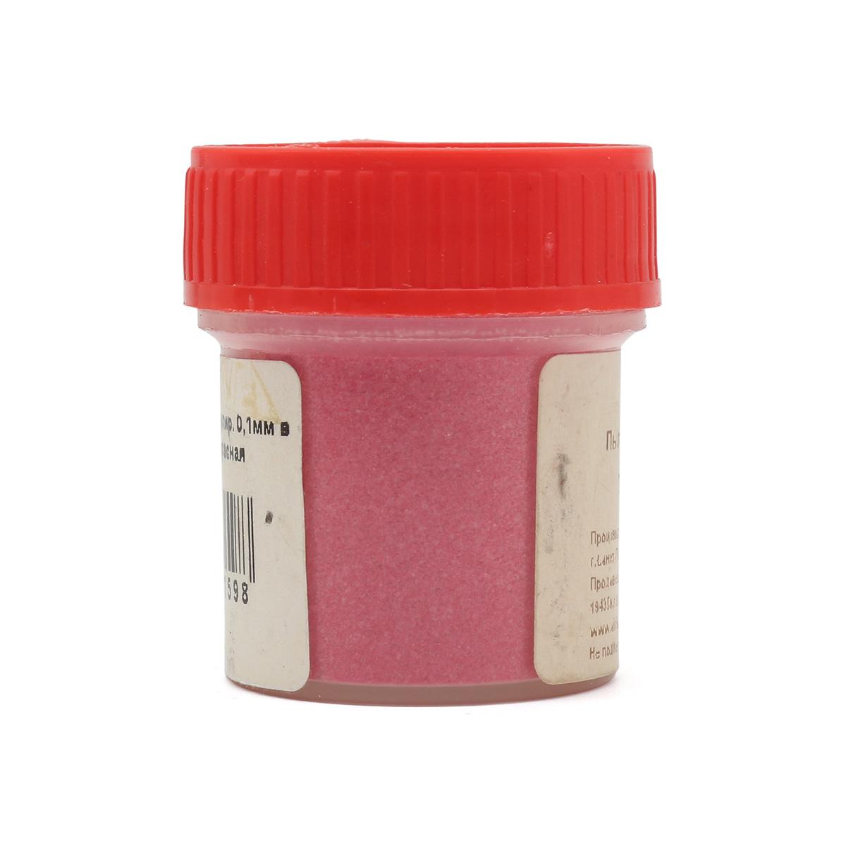 АК-0006-1 Пыльца гранулир. 0,1мм в баночке 20мл т.красная