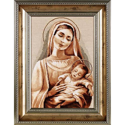 1091 Набор для вышивания Alisena 'Мадонна с младенцем', 24*35 см фото