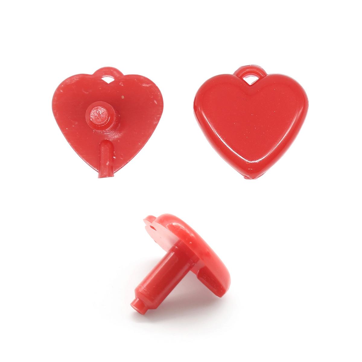 Сердце маленькое 2,0*2,0см пластик.