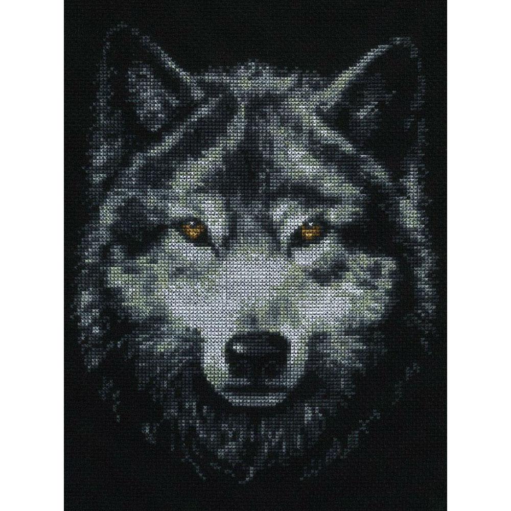 02.001 Набор для вышивания 'Палитра' 'Взгляд волка', 21х27 см