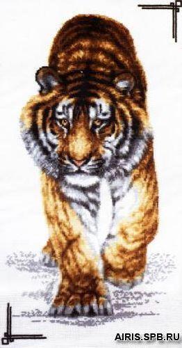 02.002 Набор для вышивания 'Палитра' 'Поступь тигра', 25х47 см